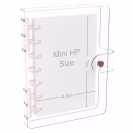 DISCAGENDA CLARITY CLEAR SEE THROUGH PVC PLANNER COVER - DISCBOUND ROSEGOLD, MINI HP SIZE