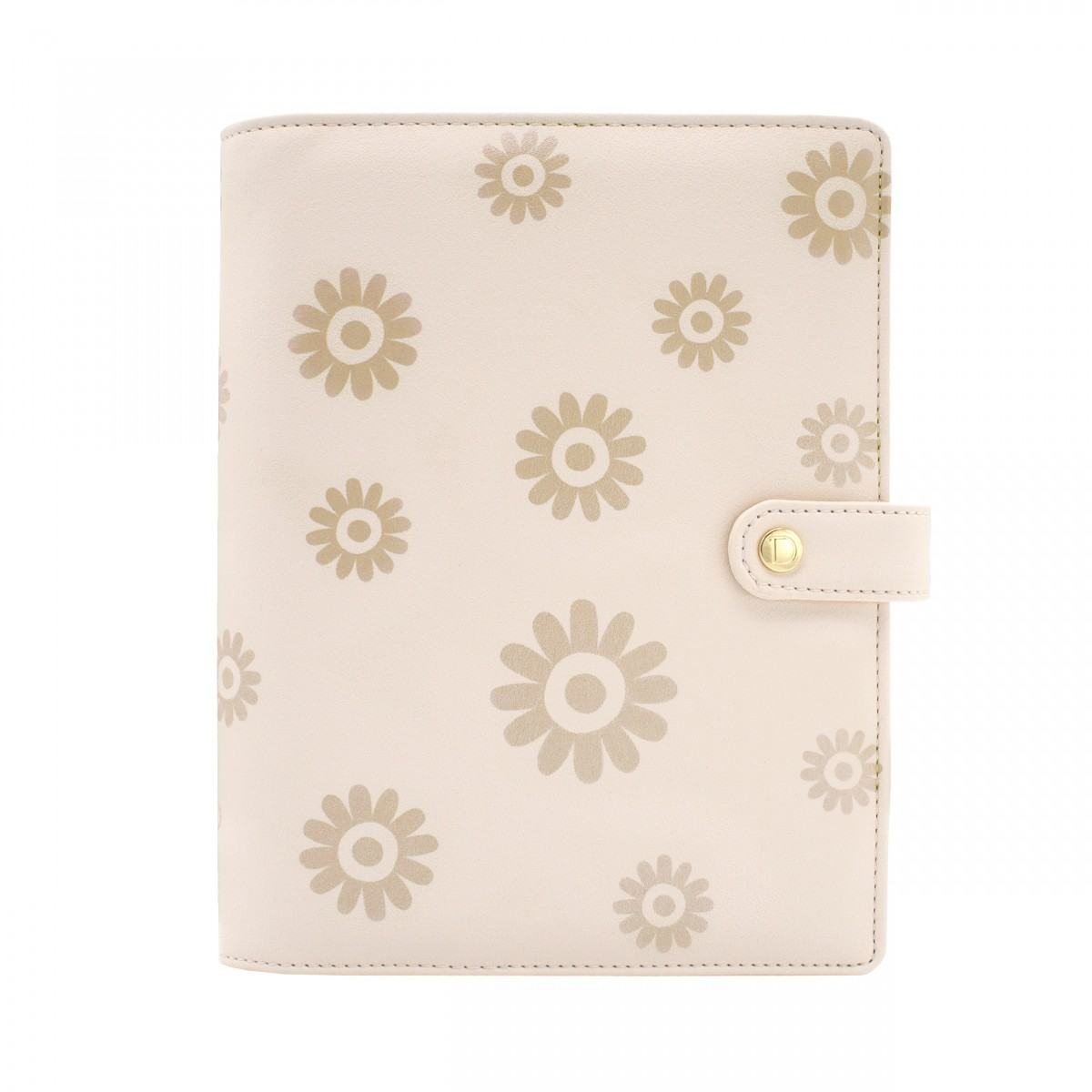 DISCAGENDA BLOSSOMS GOLD COVER A5 SNAP CLOSURE