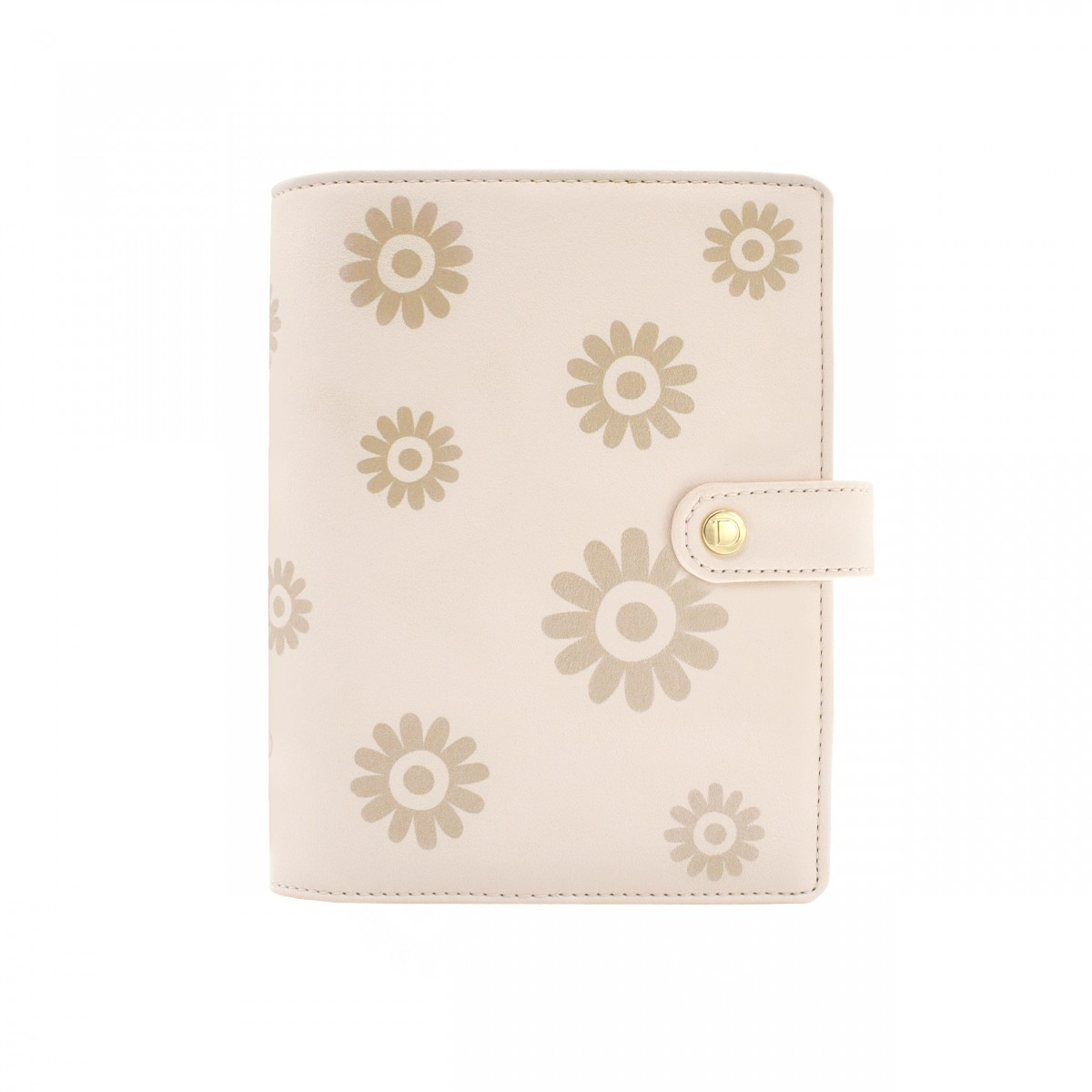 DISCAGENDA BLOSSOMS GOLD COVER PERSONAL SNAP CLOSURE