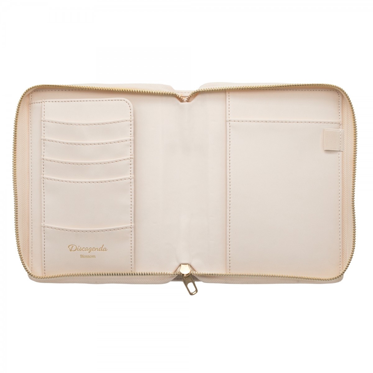 DISCAGENDA BLOSSOMS ROSEGOLD COVER PERSONAL ZIP CLOSURE