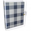 DISCAGENDA CLARITY CLEAR PVC PLANNER COVER - NAVY CHECKERED, RINGBOUND, A5 SIZE