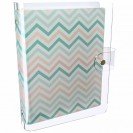 DISCAGENDA CLARITY CLEAR PVC PLANNER COVER - CHEVRON, RINGBOUND, A5 SIZE