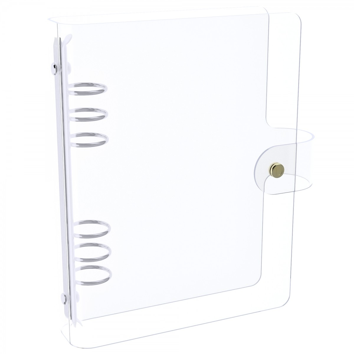 DISCAGENDA CLARITY CLEAR SEE THROUGH PVC PLANNER COVER - RINGBOUND, A5 SIZE, SILVER