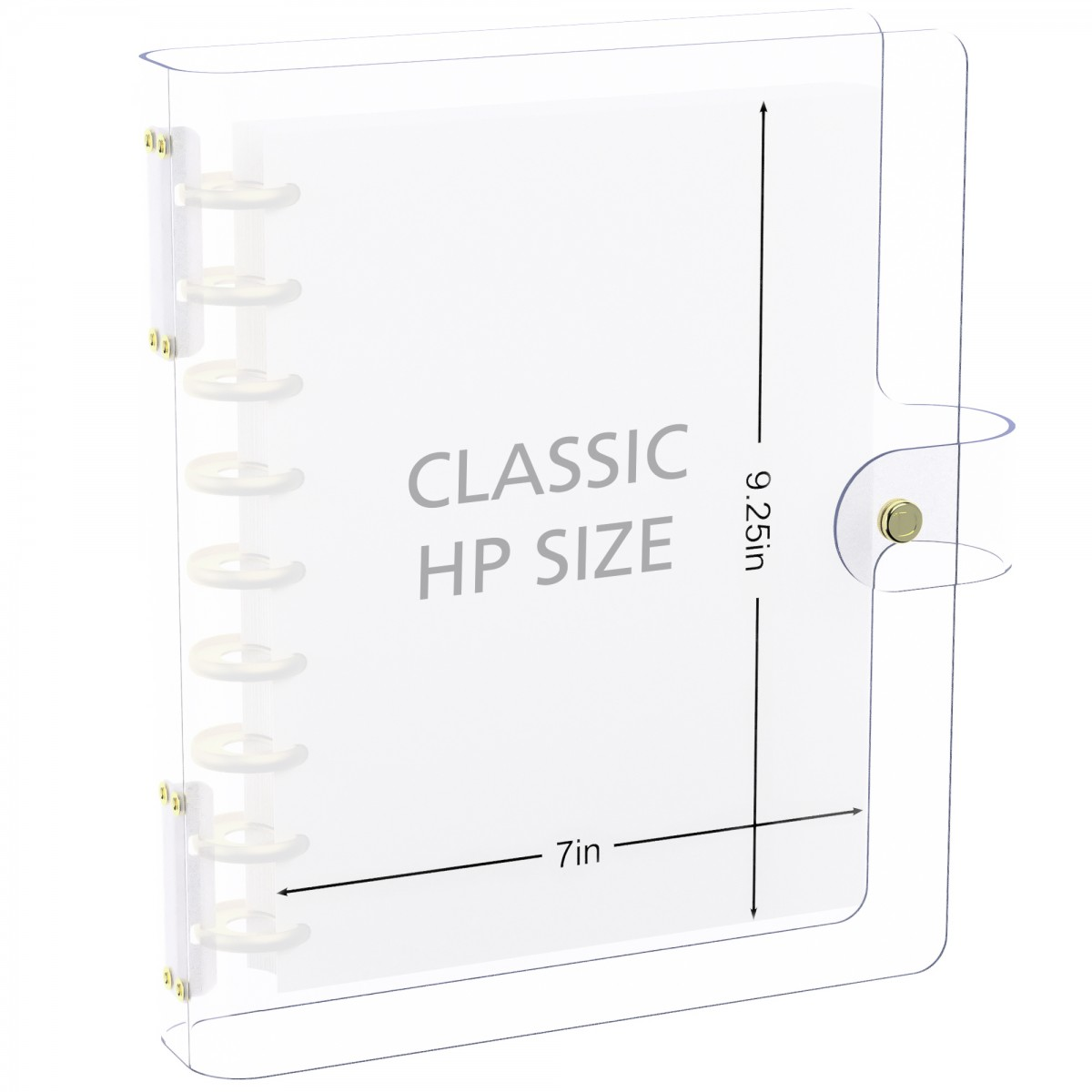 DISCAGENDA CLARITY CLEAR SEE THROUGH PVC PLANNER COVER - DISCBOUND, CLASSIC HP SIZE