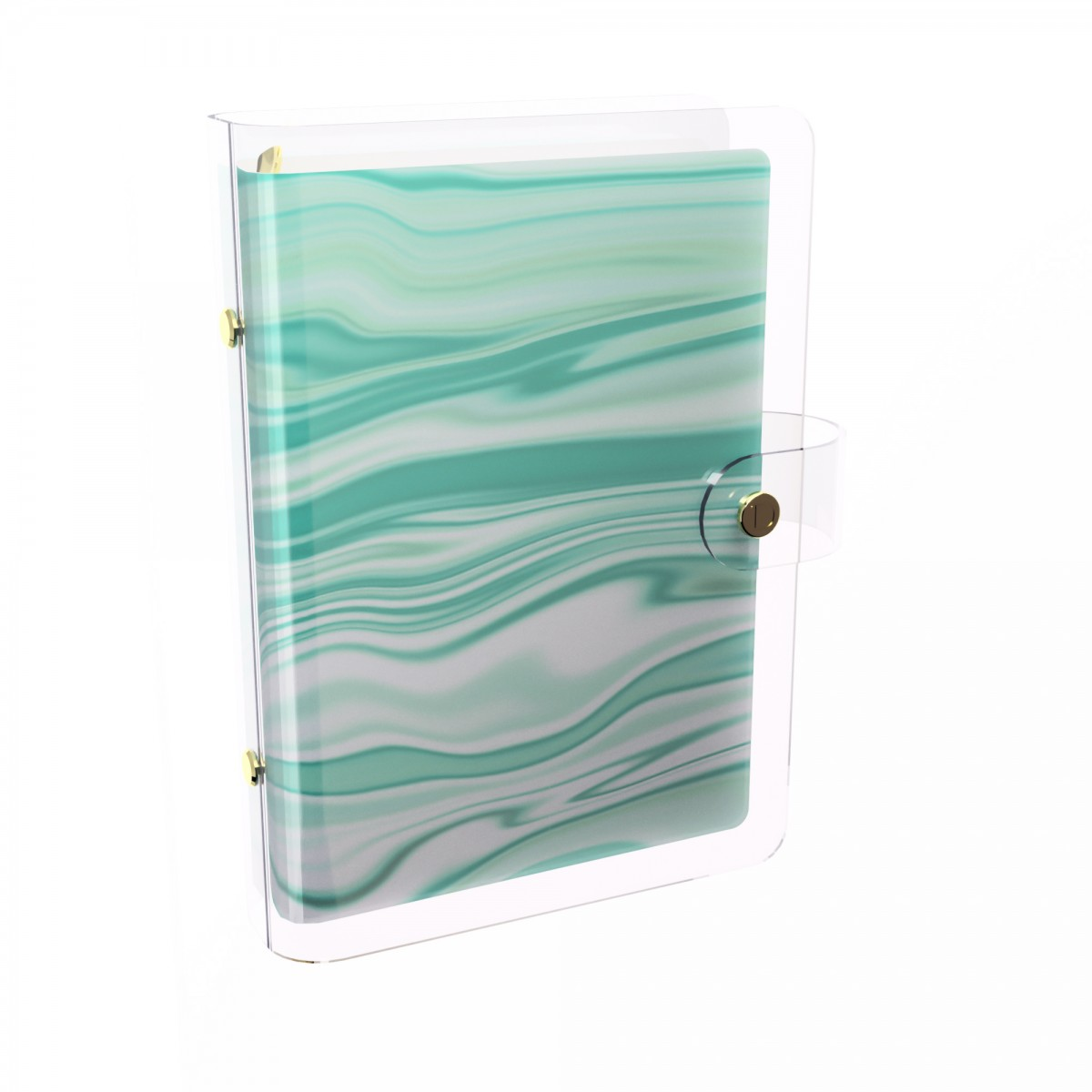 DISCAGENDA CLARITY CLEAR PVC PLANNER COVER - AGATE, RINGBOUND, PERSONAL SIZE