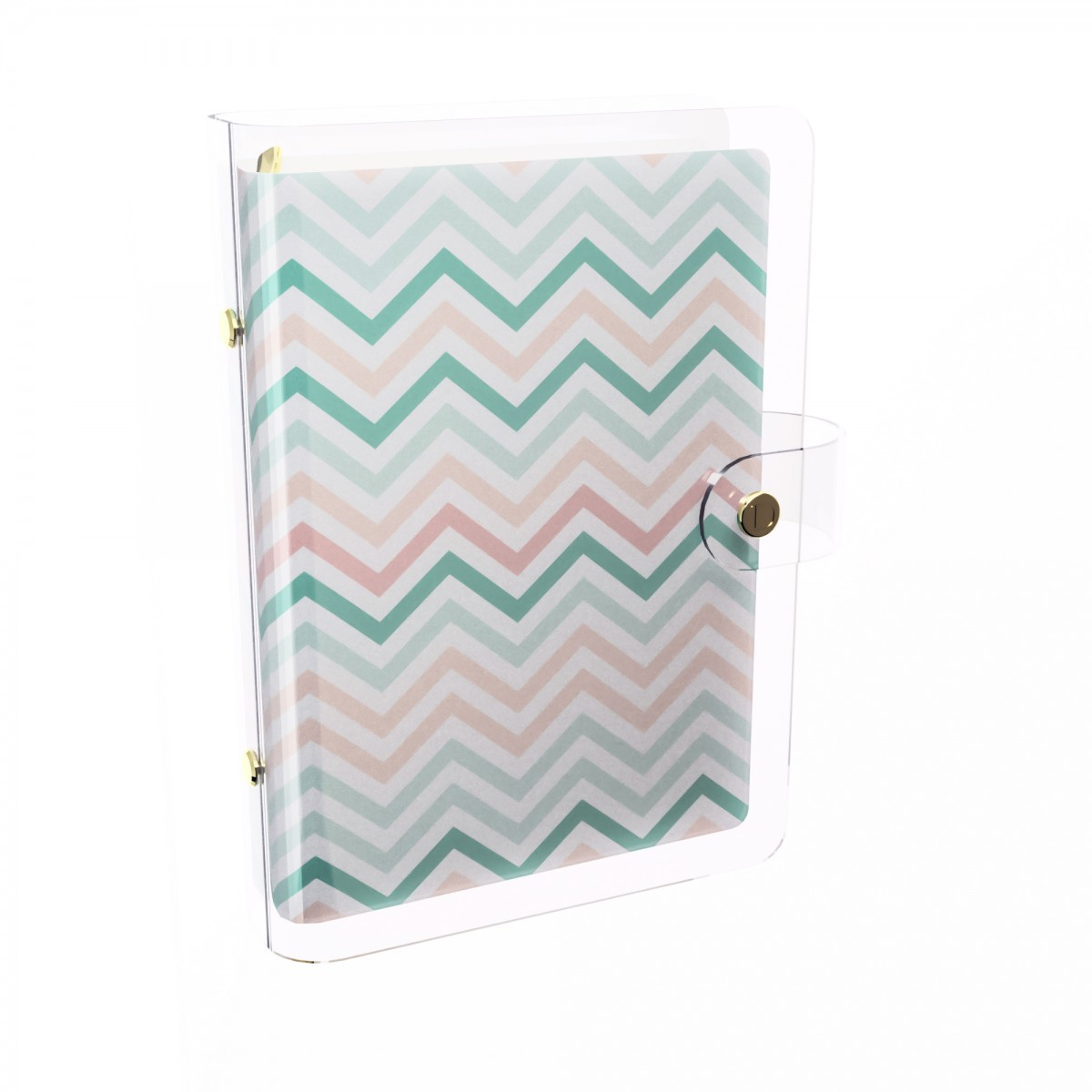 DISCAGENDA CLARITY CLEAR PVC PLANNER COVER - CHEVRON, RINGBOUND, PERSONAL SIZE