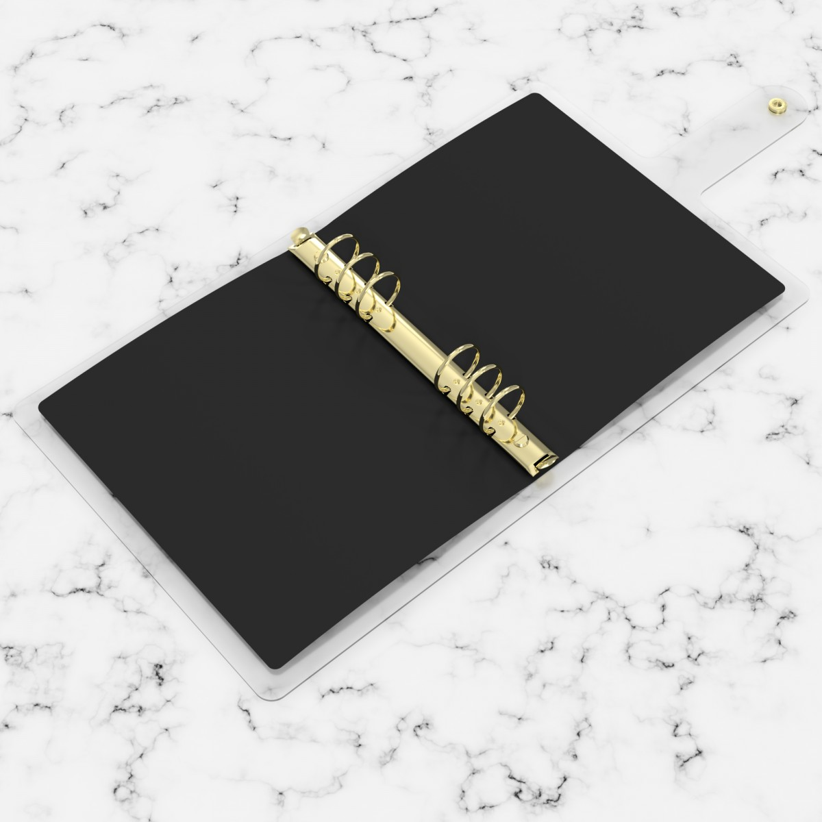 DISCAGENDA CLARITY CLEAR PVC PLANNER COVER - WE NEED MORE TRANSPARENCY (BLACK), RINGBOUND, A5 SIZE