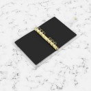DISCAGENDA CLARITY CLEAR PVC PLANNER COVER - BLACK WITH GOLD POLKA DOTS, RINGBOUND, PERSONAL SIZE