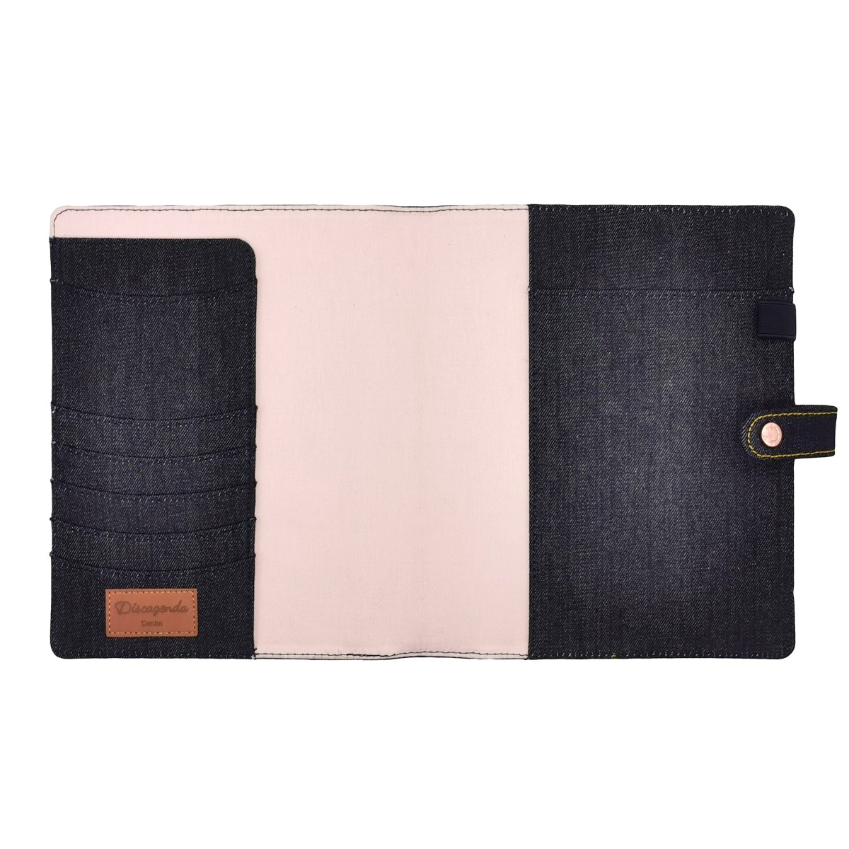 DISCAGENDA DENIM A5 SNAP CLOSURE DISCBOUND PLANNER COVER