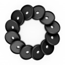 DISCAGENDA DISCBOUND DISCS 24MM 12 PIECE SET BLACK
