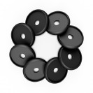 DISCAGENDA DISCBOUND DISCS 24MM 8 PIECE SET BLACK