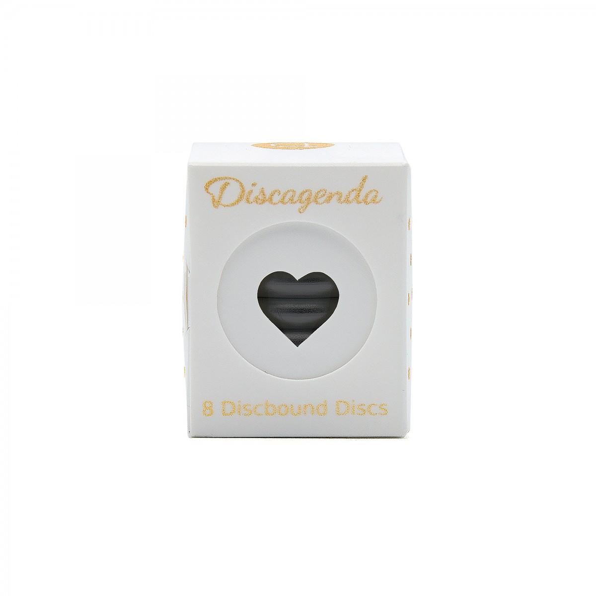 DISCAGENDA DISCBOUND DISCS 33MM 8 PIECE SET BLACK