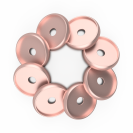 DISCAGENDA DISCBOUND DISCS 24MM 8 PIECE SET ROSE GOLD
