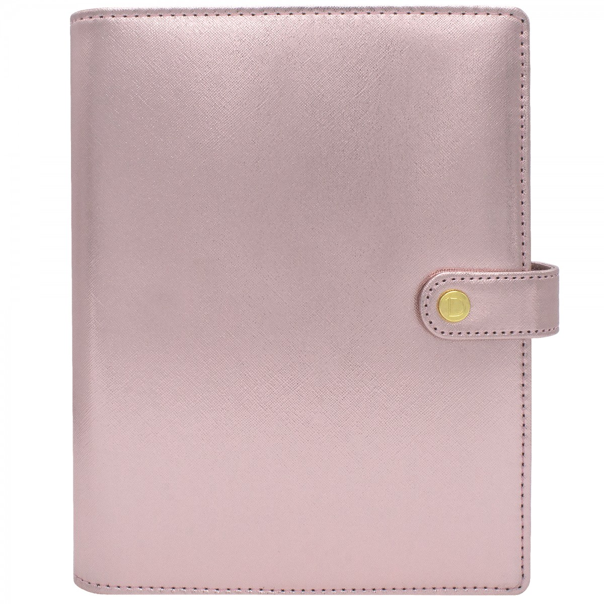 DISCAGENDA DIVA ROSEGOLD COVER LARGE SNAP CLOSURE