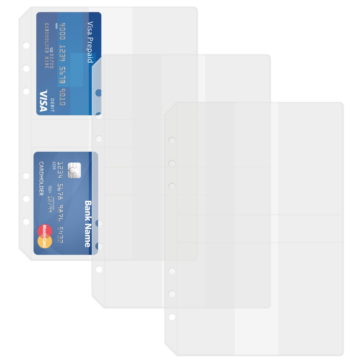 DISCAGENDA CLEAR CARD HOLDER 3 PACK