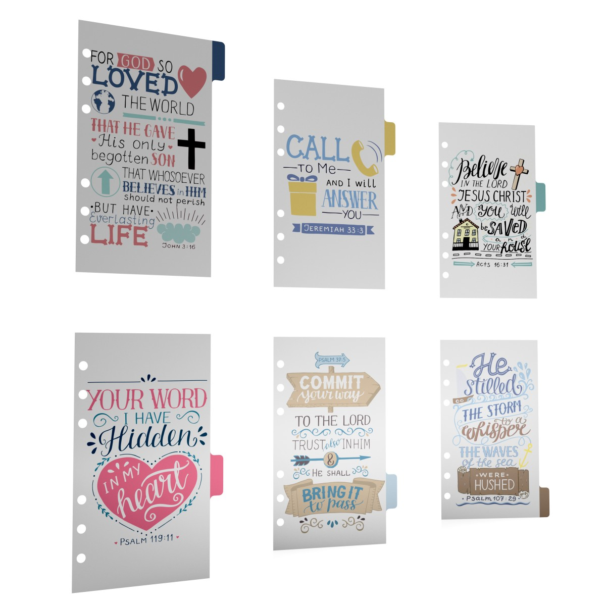 DISCAGENDA 6 SECTION PLASTIC DIVIDERS BIBLE VERSES