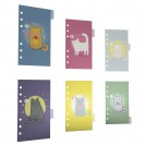 DISCAGENDA 6 SECTION PLASTIC DIVIDERS CUTE CAT