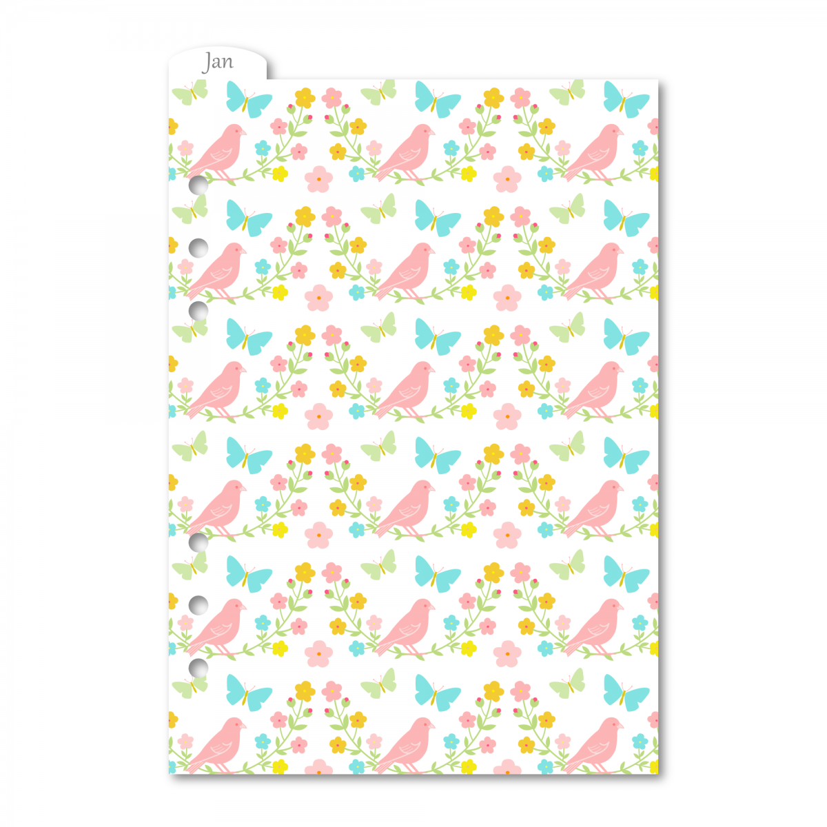RINGBOUND 12 MONTHS PLASTIC DIVIDERS A5 (LARGE) - GARDEN