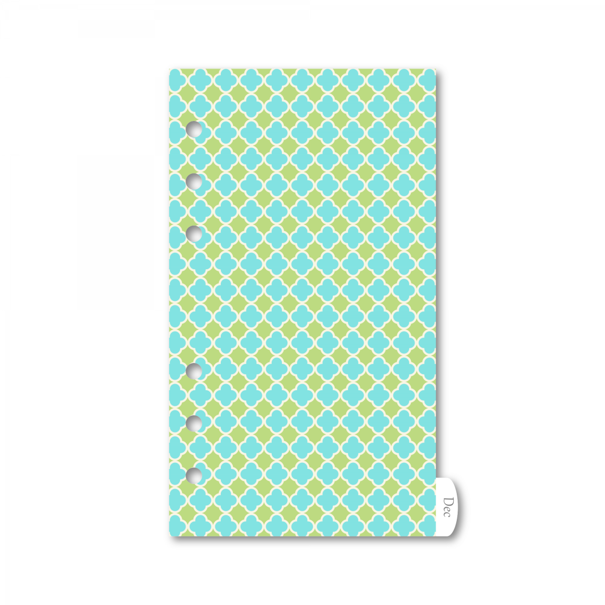 RINGBOUND 12 MONTHS PLASTIC DIVIDERS PERSONAL (SMALL) - GARDEN