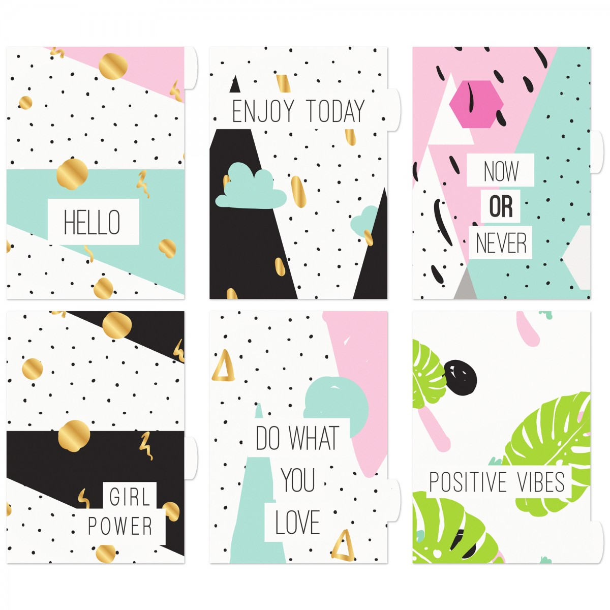 ENJOY TODAY MOTIVATION 6 SECTION DIVIDERS