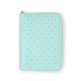 DOKIBOOK MINT DOTTED WITH ZIP SMALL