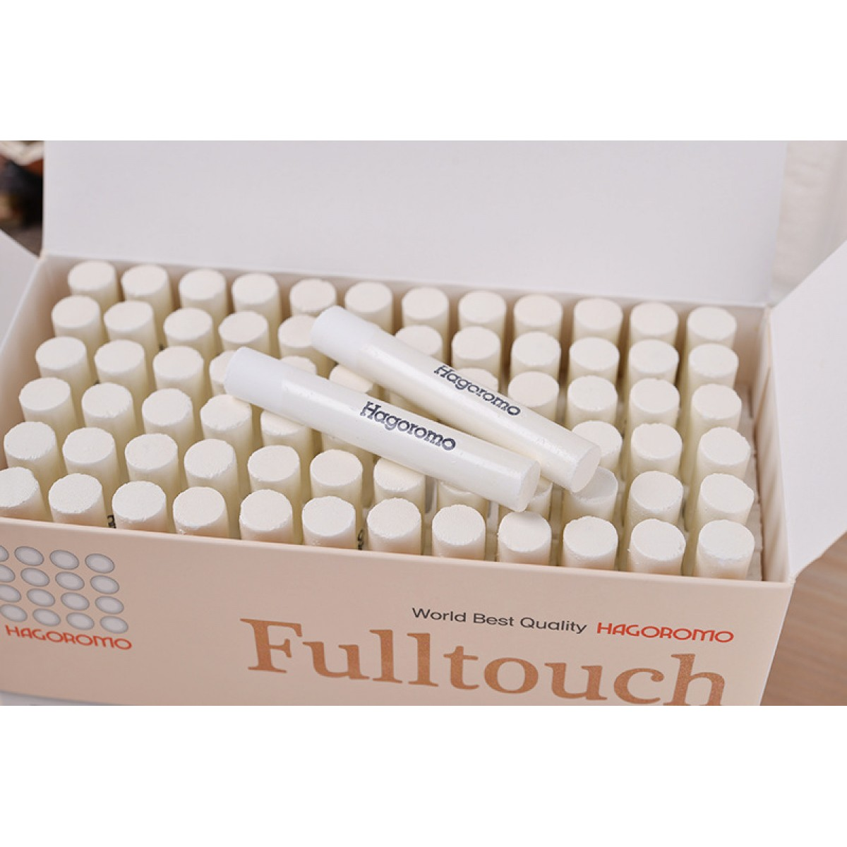 GENUINE HAGOROMO FULLTOUCH WHITE CHALK 72 PCS (MADE IN KOREA)