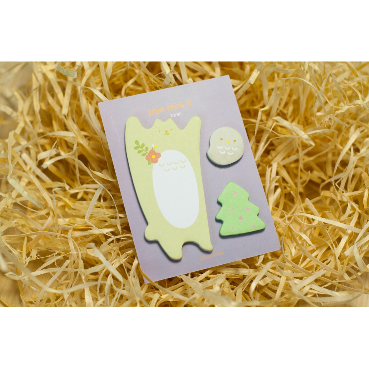 STICKY NOTES BEAR BIRD TREE SET