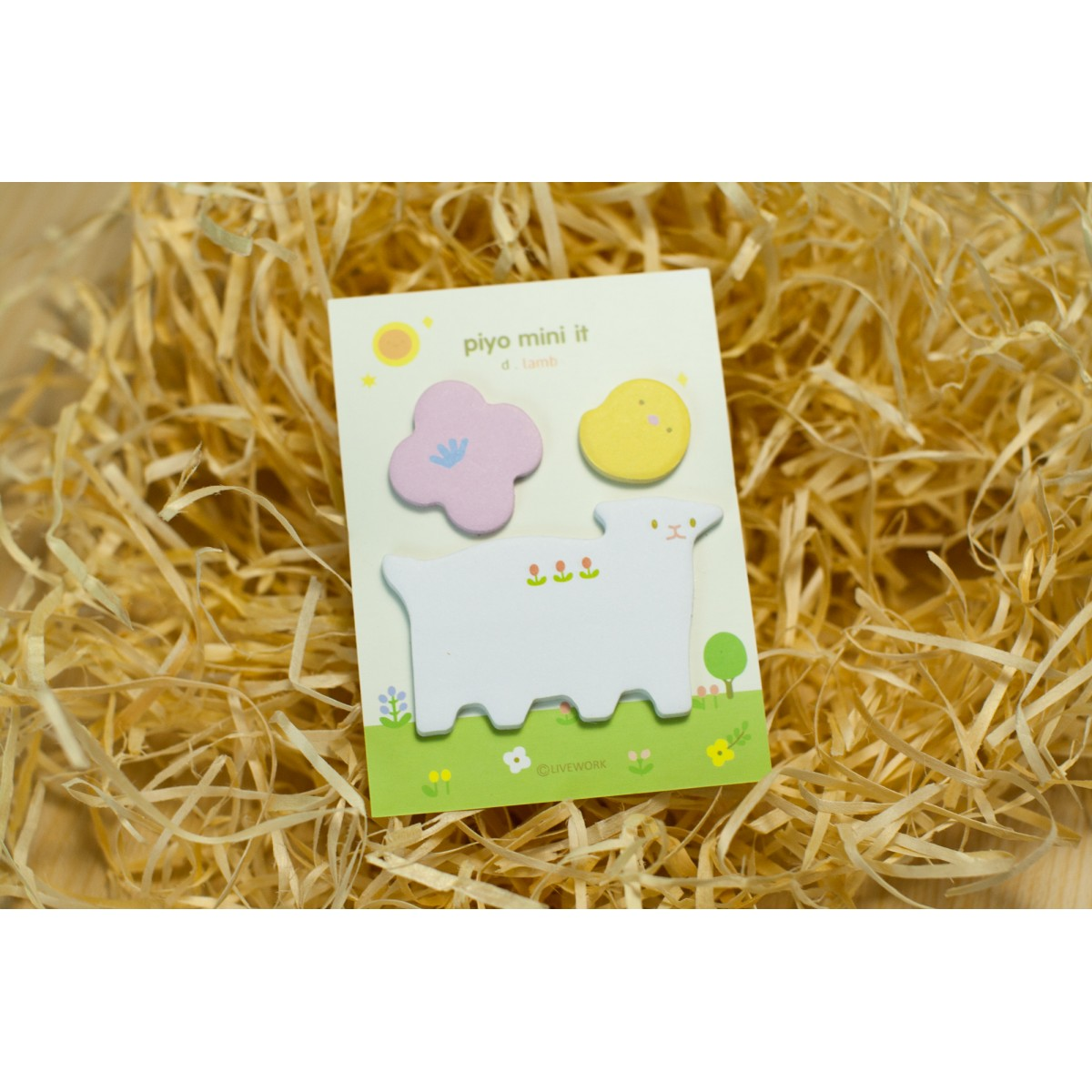 STICKY NOTES LAMB FLOWER BIRD SET