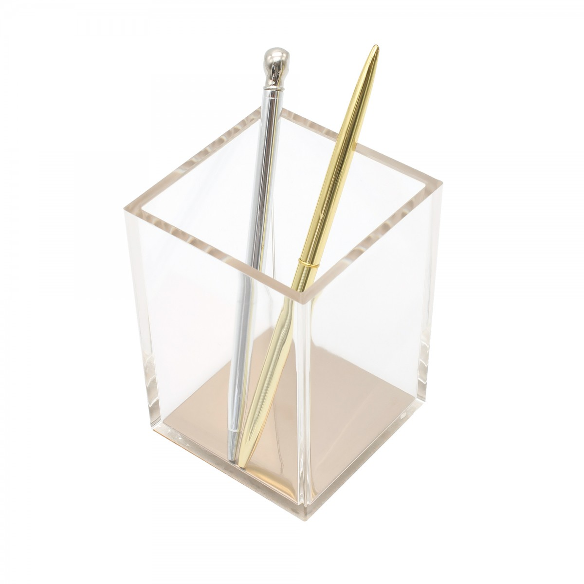 STATIONERY.LIFE ACRYLIC PEN HOLDER ROSEGOLD BOTTOM