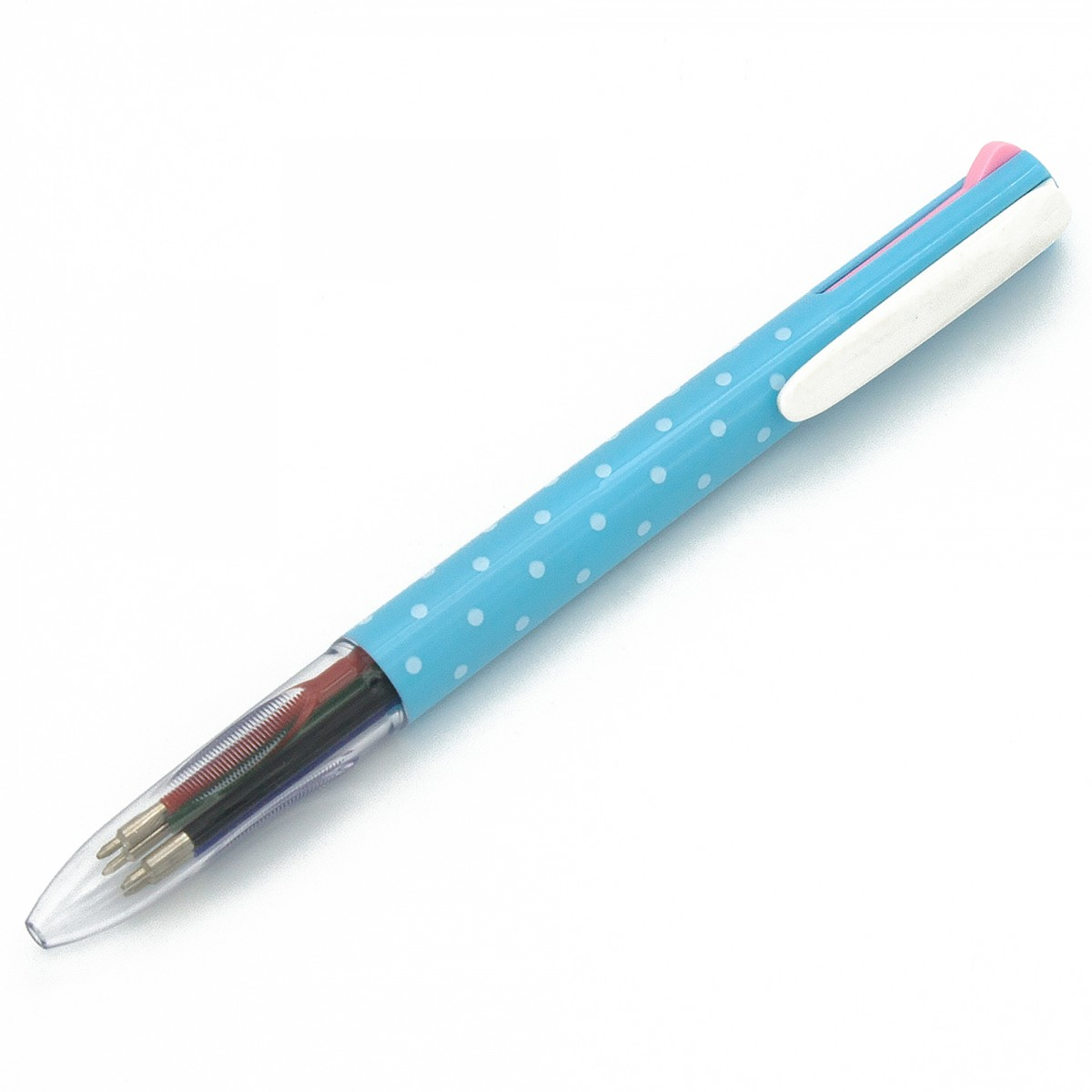 STATIONERY.LIFE POLKA DOTS MULTI COLOR BALL POINT PEN
