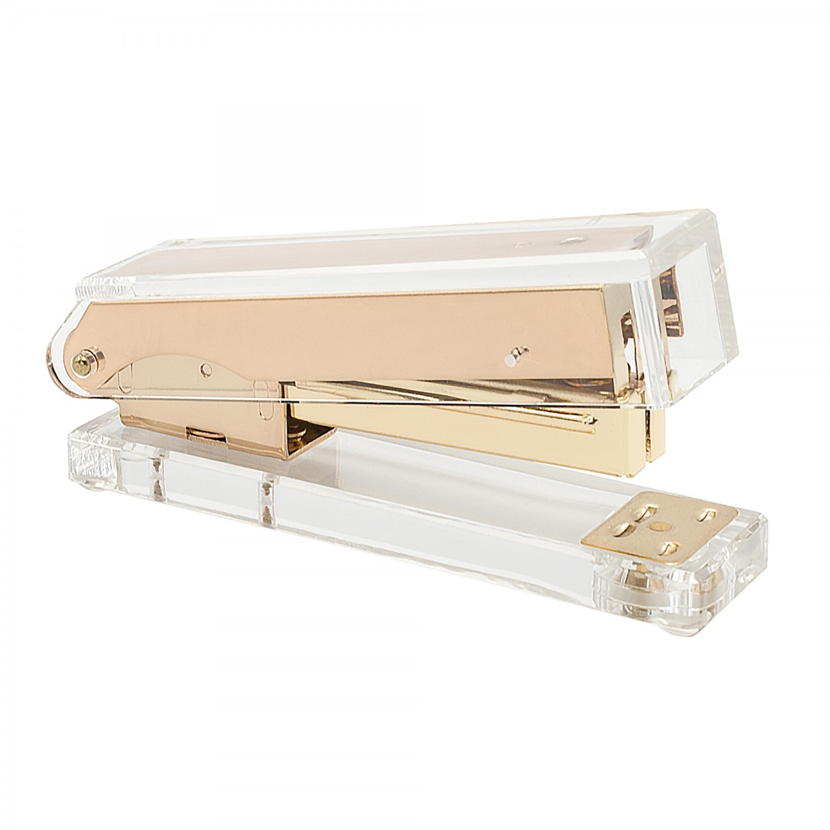 STATIONERY.LIFE ACRYLIC STAPLER ROSEGOLD COLOR